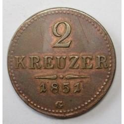 2 krajcár 1851 G