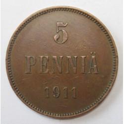 5 pennia 1911