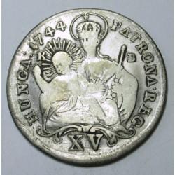 Maria Theresia XV kreuzer 1744 KB
