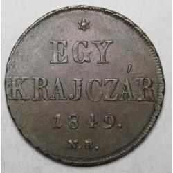 1 krajcár 1849 NB