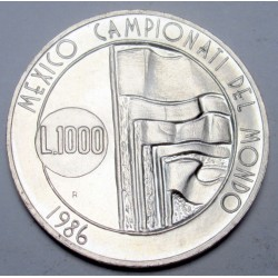 1000 lire 1986 - Mexikanische Fußball-Weltmeisterschaft