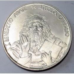 1000 lire 1980 - St. Benedict