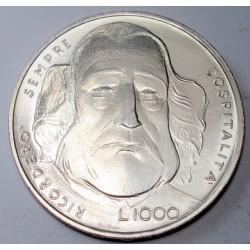 1000 lire 1982 - Garibaldi hadvezér