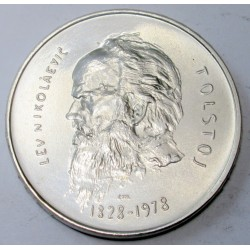 1000 lire 1978 - Lev Tolstoy playwright