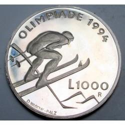 1000 lire 1994 - Lillehammeri Téli Olimpia