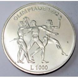 1000 lire 1992 - Olympische Spiele in Barcelona