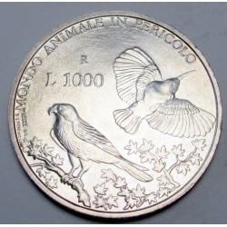 1000 lire 1993 - Wild protection