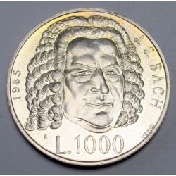 1000 lire 1985 - Bach