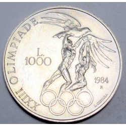1000 lire 1984 - Summer olympic games