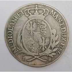 Joseph II. 1/2 scudo 1786 LB - Duchess of Milan