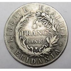 5 francs 1801 - Subalpine Republic