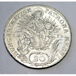 Maria Theresia 20 kreuzer 1775 S.K.P.D