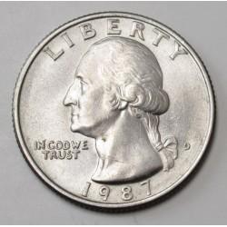 quarter dollar 1987 D