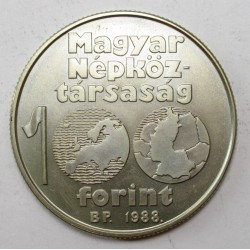 100 forint 1988 - Football Championship