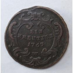 Maria Theresia 1 kreuzer 1763 W