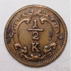 Franz II. 1/2 kreuzer 1760 K