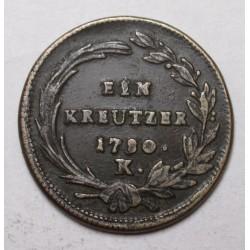 Maria Theresia 1 kreuzer 1780 K