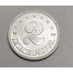 2 dinara 1953