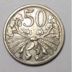 50 haleru 1921
