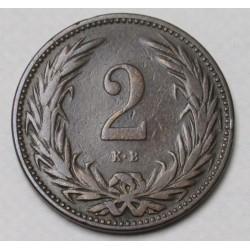 2 fillér 1895