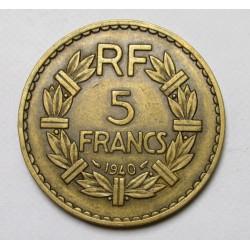 5 francs 1940