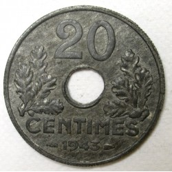 20 centimes 1943