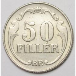 50 fillér 1938