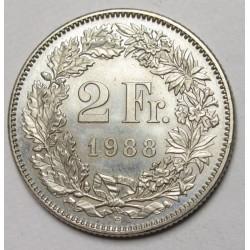 2 francs 1988