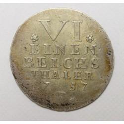 1/6 thaler 1757 - Brandenburg-Bayreuth