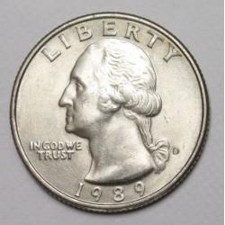 quarter dollar 1989 D
