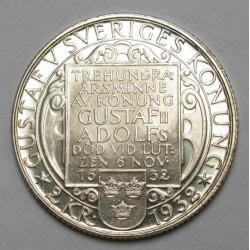 2 kronor 1932 - To the death of II. Gustaf Adolf