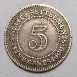 5 cents 1900 - Straits Settlements