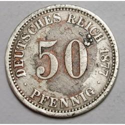 50 pfennig 1877 A