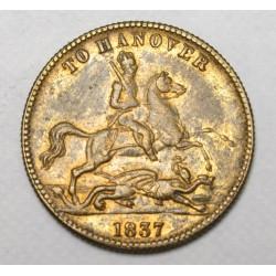 Cumberland Jack - Coronation Jeton Hannover 1837