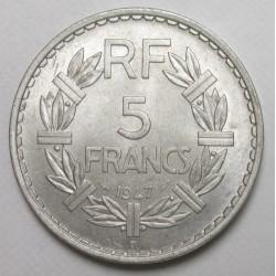 5 francs 1947 B