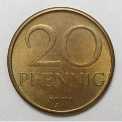 20 pfennig 1971