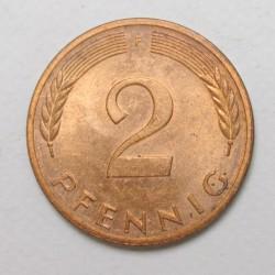 2 pfennig 1979 F
