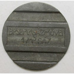 Gasworks 1 cubic meter gas jeton badge 1930-1946