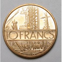 10 francs 1976 - Map of Paris