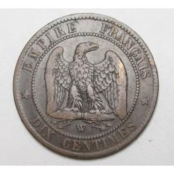 10 centimes 1856 W