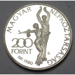 200 forint 1980 PP -  Lake Placid Winter Olympics
