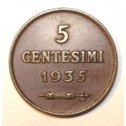 5 centesimi 1935
