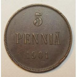 5 pennia 1901