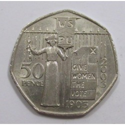 50 pence 2003 - 100th Anniversary of the WSPU