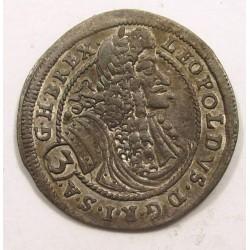 Leopold I. 3 kreuzer 1698 CH (Bratislava)