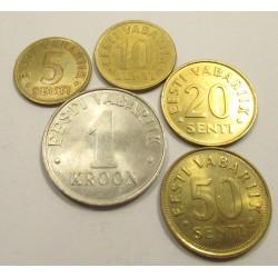 Estonian korona set 1991-1996