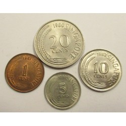 Szingapur dollar changer set 1980-1982