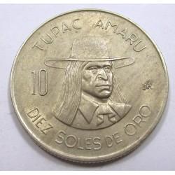 10 soles de oro 1974