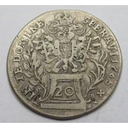 Francis I 20 kreuzer 1765 NB