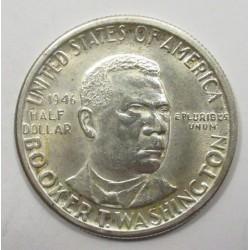 Half dollar 1946 D - Booker T. Washington writter